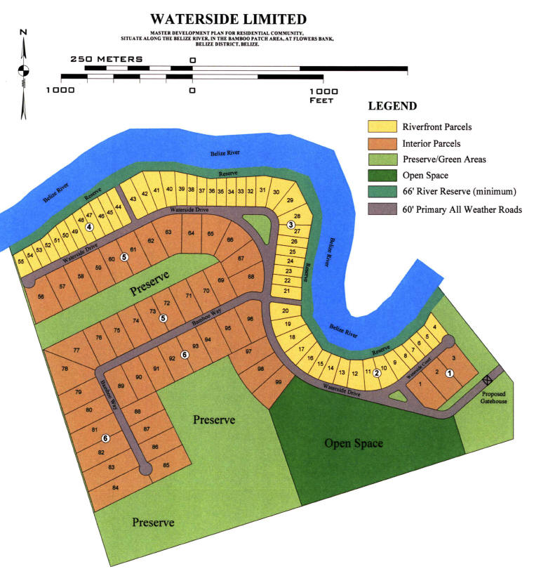 Real Estate Development Plans : Belize real estate at waterside master development plan